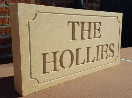 Bathstone Structural House Sign (500mm x 200mm x 50mm)